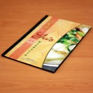 Photo-Leather Dining Menus